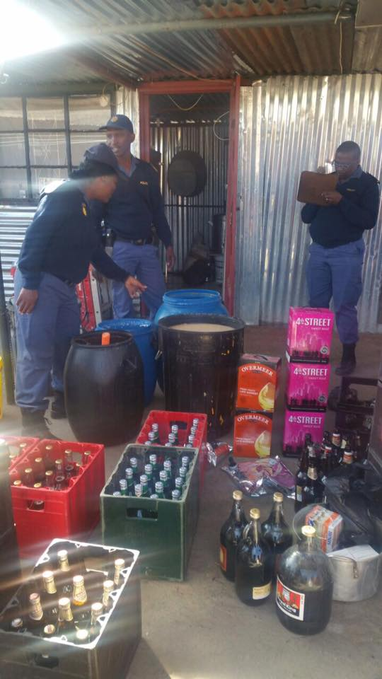 Illegal shebeens closed down in the Galeshewe precinct, Northern Cape