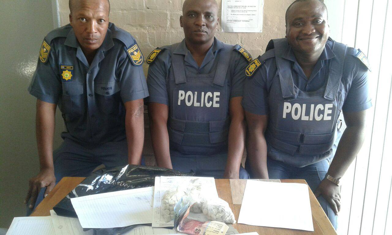 Drug arrest after routine stop and search in Bloemfontein