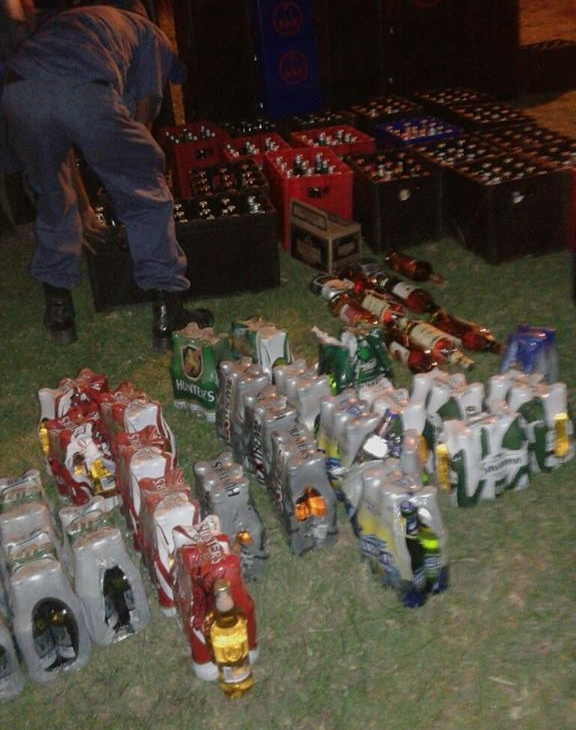 Coffee Bay police closed down an illegal liquor outlet during a raid on 2017-04-05